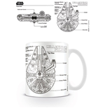 Star Wars Mug Millennium Falcon Sketch