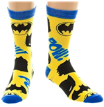 BATMAN Pow Yellow Men's Crew Socks
