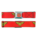 WONDER WOMAN Red Seatbelt Buckle Belt