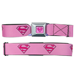 SUPERMAN Pink Logo Seatbelt Buckle Belt