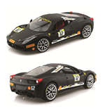 1:18 458 Challenge Matt Black Diecast Model