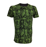MARVEL COMICS Incredible Hulk Adult Male Classic Green Comic Strip T-Shirt, Small, Green/Black