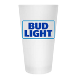 BUD LIGHT Frosted Glass