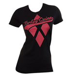 HARLEY QUINN Diamond Logo Womens Black Shirt