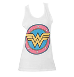 Wonder Women Logo White Womens Tank Top