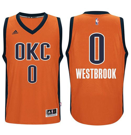 d7800480f Men s Oklahoma City Thunder Russell Westbrook adidas Orange New Swingman  Alternate Jersey