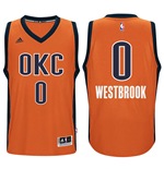 Men's Oklahoma City Thunder Russell Westbrook adidas Orange New Swingman Alternate Jersey