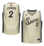 Men's San Antonio Spurs Kawhi Leonard adidas Gray 2016 Christmas Day Swingman Jersey