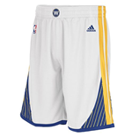 adidas Golden State Warriors New Swingman White Shorts
