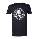 UNCHARTED 4 Adult Male Skull 'n' Crossbones Pro Deus Qvod Licentia 1710 T-Shirt, Medium, Black
