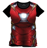 Captain America Civil War T-Shirt Iron Man Chest