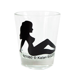 Woman Silhouette Shot Glass