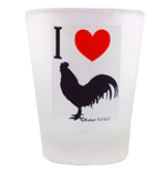 I Heart Cock Shot Glass