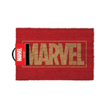 MARVEL COMICS Gold Main Logo Door Mat, Red