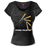 Pink Floyd Ladies T-shirt - Acid Wash MULTI-LOGO Black Grey
