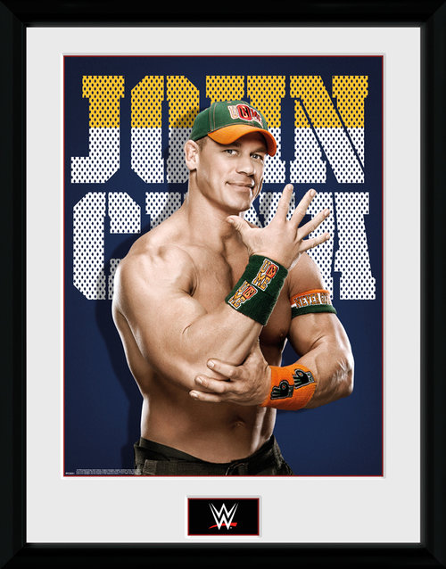 WWE John Cena Photo Framed Collector Print