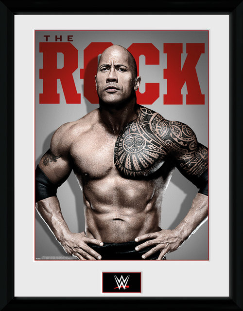 WWE The Rock Photo Framed Collector Print