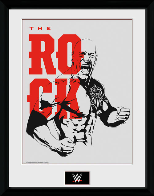 WWE The Rock Framed Collector Print
