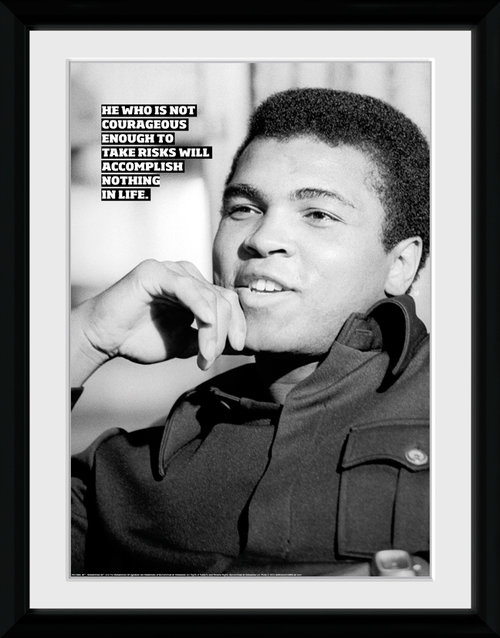 Muhammad Ali Courageous Framed Collector Print