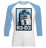 Star Wars R-2D2 Block 3/4 Sleeves Raglan Baseball T-shirt