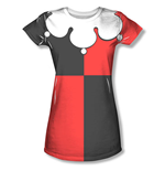 Batman Red HARLEY QUINN Sublimation Costume Tee Shirt