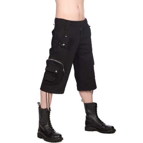 Black Pistol Army Short Pants Denim