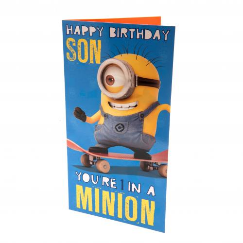 Despicable Me Minion Birthday Card Son