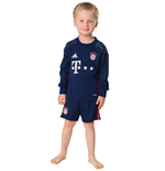 2016-2017 Bayern Munich Adidas Home Goalkeeper Mini Kit