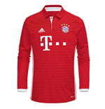 2016-2017 Bayern Munich Adidas Home Long Sleeve Shirt