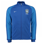 2016-2017 Brazil Nike Authentic N98 Track Jacket (Blue) - Kids