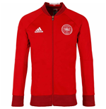 2016-2017 Denmark Adidas Anthem Jacket (Red)