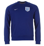 2016-2017 England Nike Authentic AW77 LS Crew Sweater (Blue)