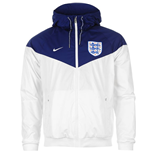 2016-2017 England Nike Authentic Windrunner Jacket (White-Royal)