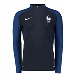 2016-2017 France Nike Authentic Elite Drill Top (Navy)