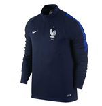 2016-2017 France Nike Drill Top (Navy)