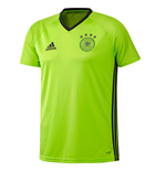 2016-2017 Germany Adidas Players Training Tee (Solar Slime)