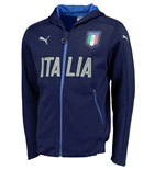 2016-2017 Italy Puma Casual Performance Zip Through Hoody (Navy)