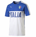 2016-2017 Italy Puma Fanwear Graphic Tee (White-Blue)