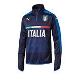 2016-2017 Italy Puma Quarter Zip Training Top (Navy) - Kids
