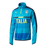 2016-2017 Italy Puma Quarter Zip Training Top (Blue)
