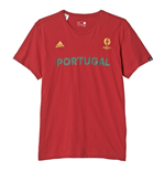 2016-2017 Portugal Adidas Euro 2016 Tee (Red)