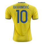2016-2017 Sweden Home Adidas Shirt (Ibrahimovic 10)