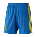 2016-2017 Sweden Home Adidas Football Shorts (Kids)
