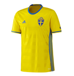2016-2017 Sweden Home Adidas Football Shirt (Kids)
