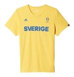 2016-2017 Sweden Adidas Euro 2016 Tee (Yellow)