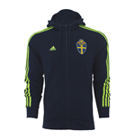2016-2017 Sweden Adidas 3S Hooded Zip (Navy)