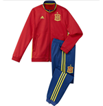 2016-2017 Spain Adidas PES Tracksuit (Red)