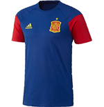 2016-2017 Spain Adidas Training Tee (Blue)