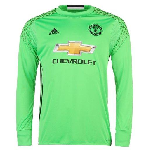 brand new fe8ef 3ac9f 2016-2017 Man Utd Adidas Away Goalkeeper Shirt
