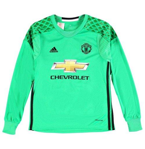 2016 2017 Man Utd Adidas Away Goalkeeper Shirt Kids For